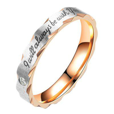 CZ's Women Stainless CZ Stainless Steel Love I Will Be Be With You Rings