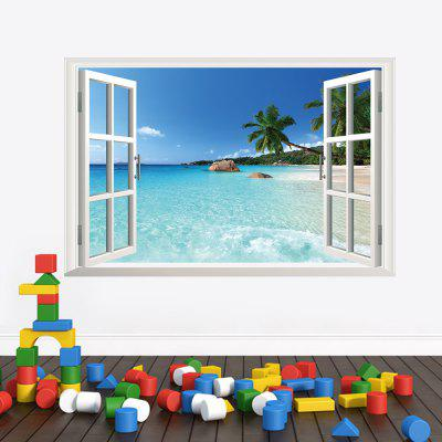 3D Hawaiian Style Living Room Bedroom Background TV Background Wall Sticker