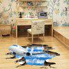 3D Blue Sky and White Clouds Break Out of The Wall PVC Removable Three-Dimension - MULTI