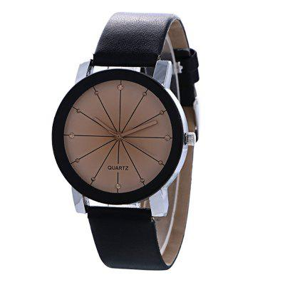 Convex Belt Meridian Fashion Lovers with Quartz Watch