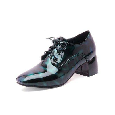 Spring and Autumn Square Head Thick with Patent Leather Lace High Heel Shoes (Gearbest) Chula Vista For sale ad