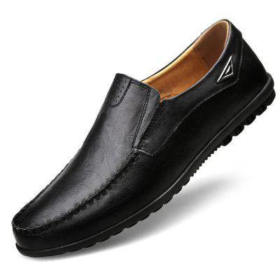 Genuine Leather Men Casual Shoes Brand 2019 Mens Loafers Moccasins