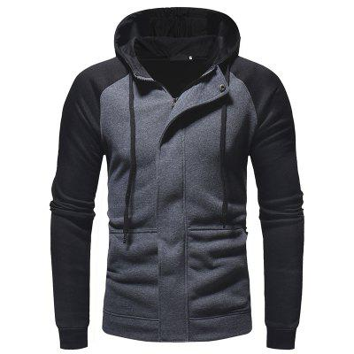 Dark Door Men'sCasual Slim Zipper Cardigan Jersey con capucha