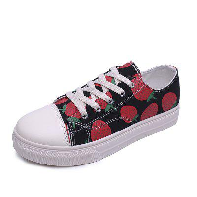Fashionable Strawberry Casual Shoes
