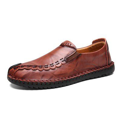 Men l Driving  Leather Loafers Shoes Handmade Soft Breathable Moccasins Flats