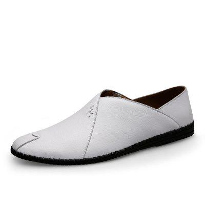 Men Casual Male Leather Loafers Leisure Moccasins Slip On Driving Shoes