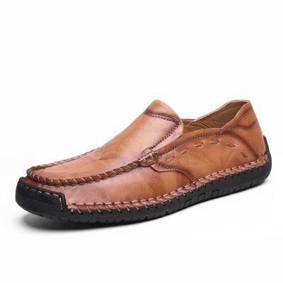Men Plus Size Male Leather Loafers Leisure Moccasins Slip On Driving Shoes
