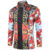 New Man Fashion 3D Print Floral Full Sleeve Spring Summer Shirt k894 - MULTI-A