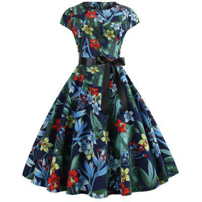 Large Printed Women's Dress