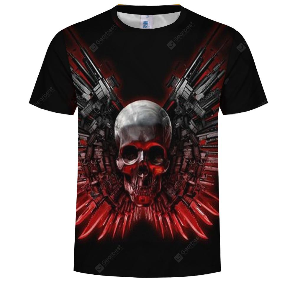 Trend Men New 3D Digital Print Short Sleeve T-Shirt
