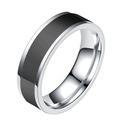 Fashion Jewelry Black Titanium Band Stainless Steel Ring