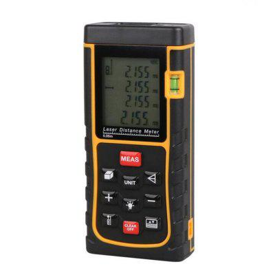 Laser Distance Meter with Bubble Level Tape Measure Device Ruler Test Tool 80M