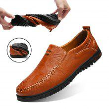9ff9d099c662d 68% OFF Men's Solid Color Business Cowskin Casual Shoes Driving