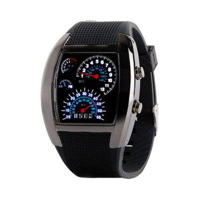 Moda męska Sport Fan-Shaped Dashboard Creative Electronic Watch