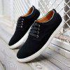 Plus Size Men Casual Leather Shoes Oxfords Mens Flats Fashion Classic Shoe - BLACK