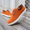 Plus Size Men Casual Leather Shoes Oxfords Mens Flats Fashion Classic Shoe - BRIGHT ORANGE