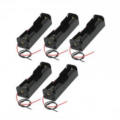 3.7V 18650 Battery Holder Case Plastic Battery Storage Box with Wire Leads- 5Pcs