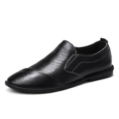 Mens Genuine Leather Moccasin Shoes Men Flats Breathable Casual Loafers