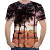 3D Summer Fashion Coconut Tree Print Men's Short Sleeve T-shirt - MULTI