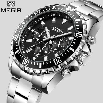 Men'S Top Luxury Brand Stainless Steel Strap Chronometer Quartz Watch