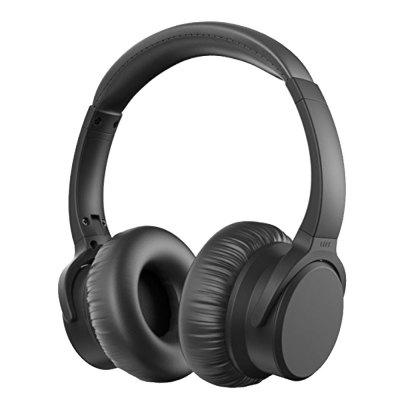 ANC Wireless Over-Ear Noise-Cancelling Bluetooth Headphones with Mic and 12 Hour
