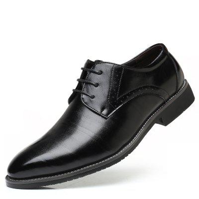Fashion Men'S Business Suits Leather Splicing Pointed Men'S Shoes