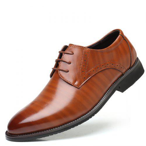 Punk Style New Thick-Bottomed Mens Shoes Brock Pointed Shoes Low to Help Mens Shoes