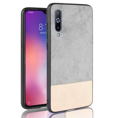 Silicone Edge Leather Fabric Shockproof Cover Case for Xiaomi Mi 9