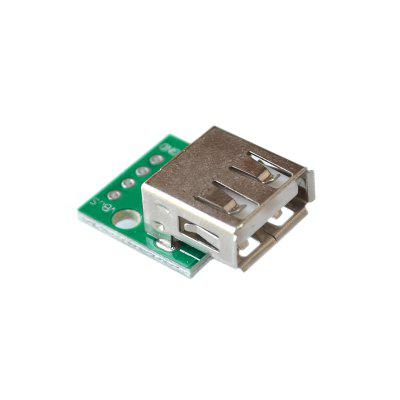 10ks USB 2.0 zásuvka s hlavou do DIP 2,54 mm Pin 4P Adapter Board