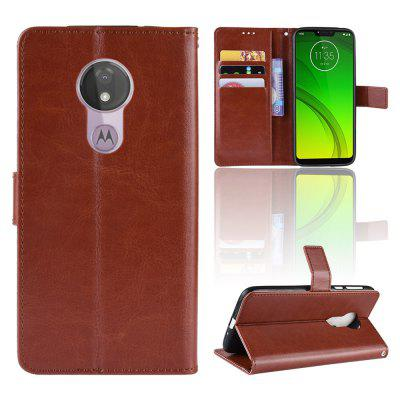 Crazy Horse PU Leather Case For MOTO G7 POWER