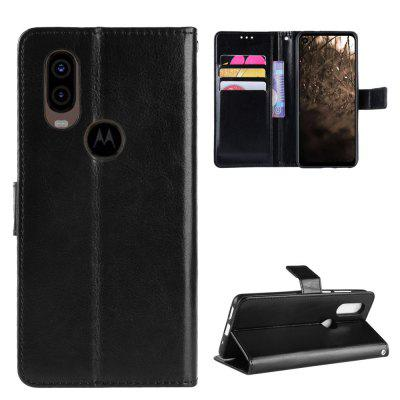 Crazy Horse PU Leather Case For MOTO P40