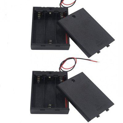 2 Pcs 3 x1.5V AA Battery Holder with On Off Switch Cap Lead Wires (for AA 3 CEL