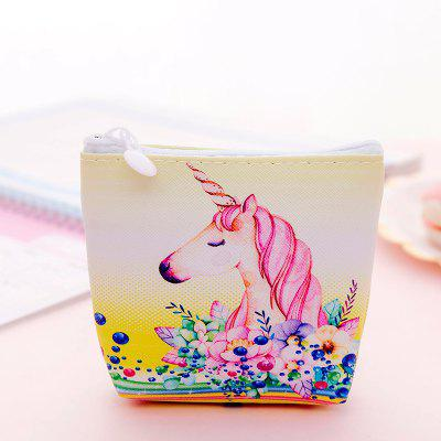 Cartoon Eenhoorn Portemonnee Mini Opbergtas Creative Coin Bag