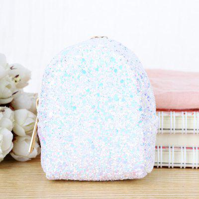 1 Pc Women's Coin Purse Stylish Sequined Design Ladylike Bag