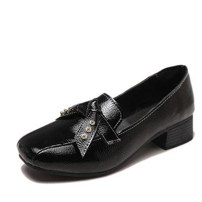 Bow Tie Short Heels Casual Shoes Womens Shoes