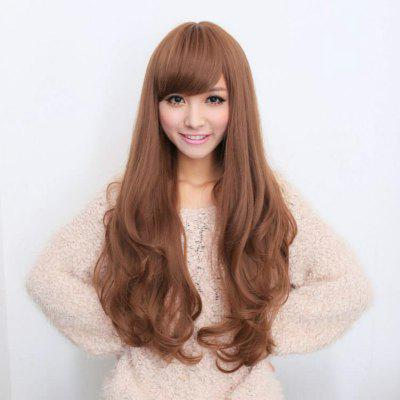 Wig Female Fluffy Face Long Curly Hair Oblique Bangs