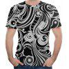 3D Zomer Casual Fashion Retro Patroon Print Heren T-shirt met korte mouwen - MULTI