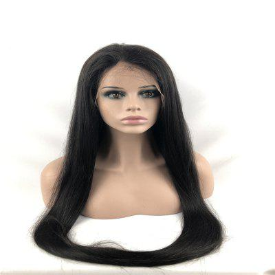 Lace Front Wigs Nature Black Color Silky Straight Brazilian Human Hair