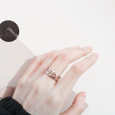 Fashion Alloy Couple Rings