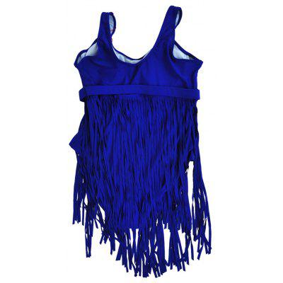 Large Size XL-6XL Solid Color Sexy Women Fringed swiming Bathing Suit