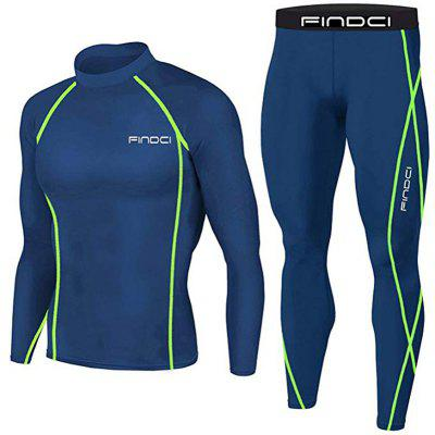 Men Compression Tops Tight Trousers Sport Suits