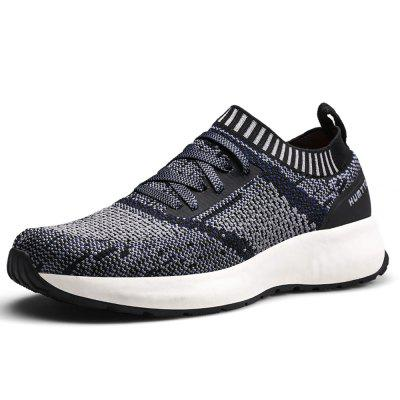 HUMTTO Men Walking Shoes Lightweight Breathable Flying Weave Running Shoes