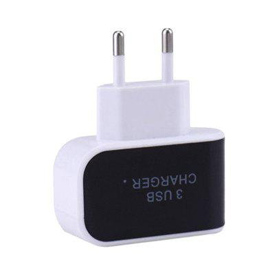 EU Universal Wall Charger 3USB Ports Outlet 3.1A Fast Charge Adapter