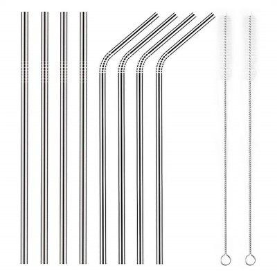 Stainless Steel Metal Straws Reusable For Tumblers Rumbler Beverage