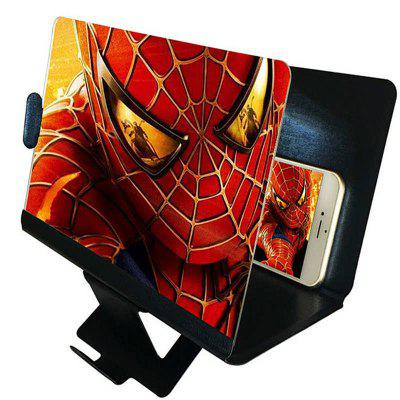 3D Phone Screen Magnifier Stereoscopic Amplifying Desktop foldable Leather Brack