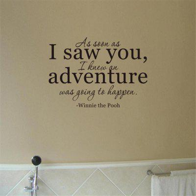 As Soon As I Saw You Art Apothegm Home Decal Wall Sticker