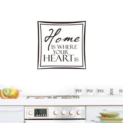 Home Is Where Your Heart Is Art Apothegm Home Decal Wall Sticker
