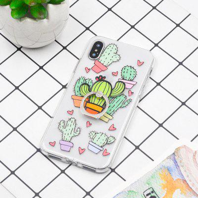 Tropical Fruit Plant TPU Protective Soft Case for iPhone X and The Same Holder