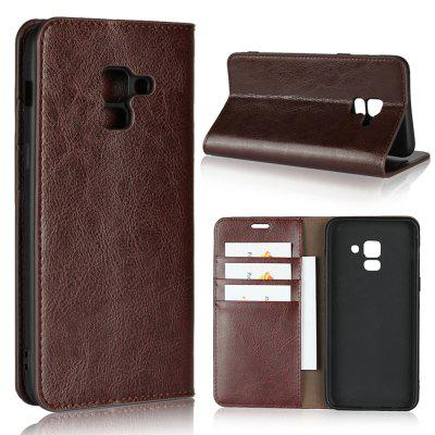 For SAMSUNG A8 2018 Phone Case Protector Leather Cover