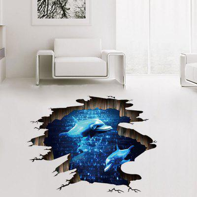 3D Dolphin Removable Waterproof PVC Wall Stickers for Home